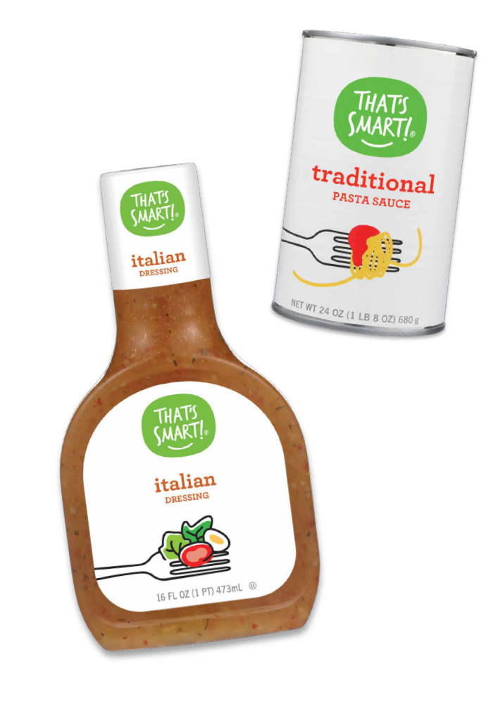That's Smart! italian dressing and traditional pasta sauce
