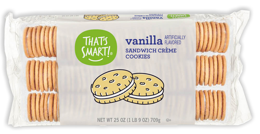 That's Smart! vanilla sandwich creme cookies