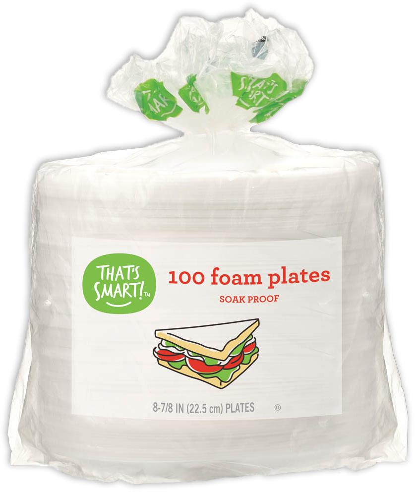 That's Smart! 100 foam plates