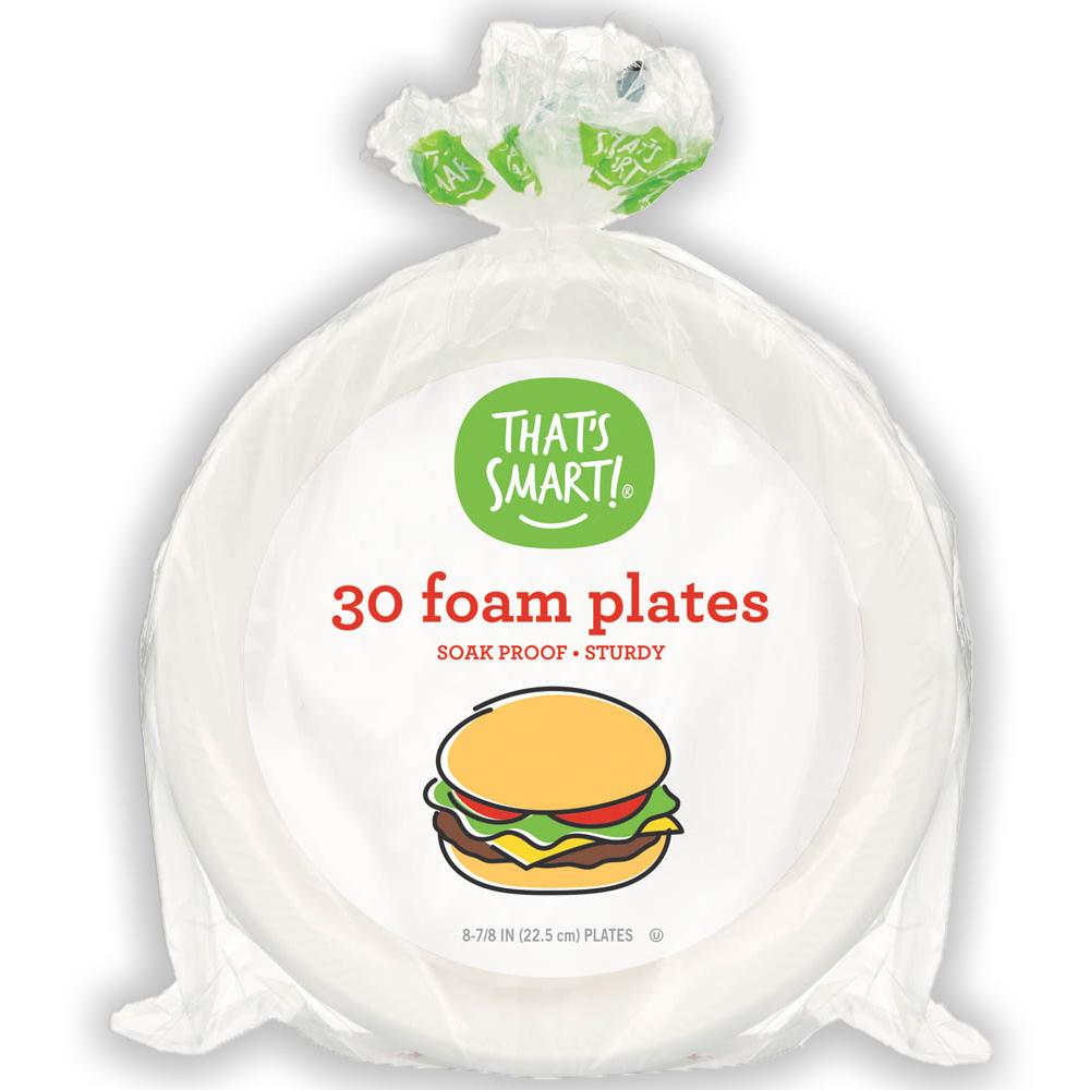 That's Smart! 30 foam plates