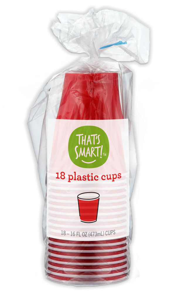 That's Smart! 18 plastic cups