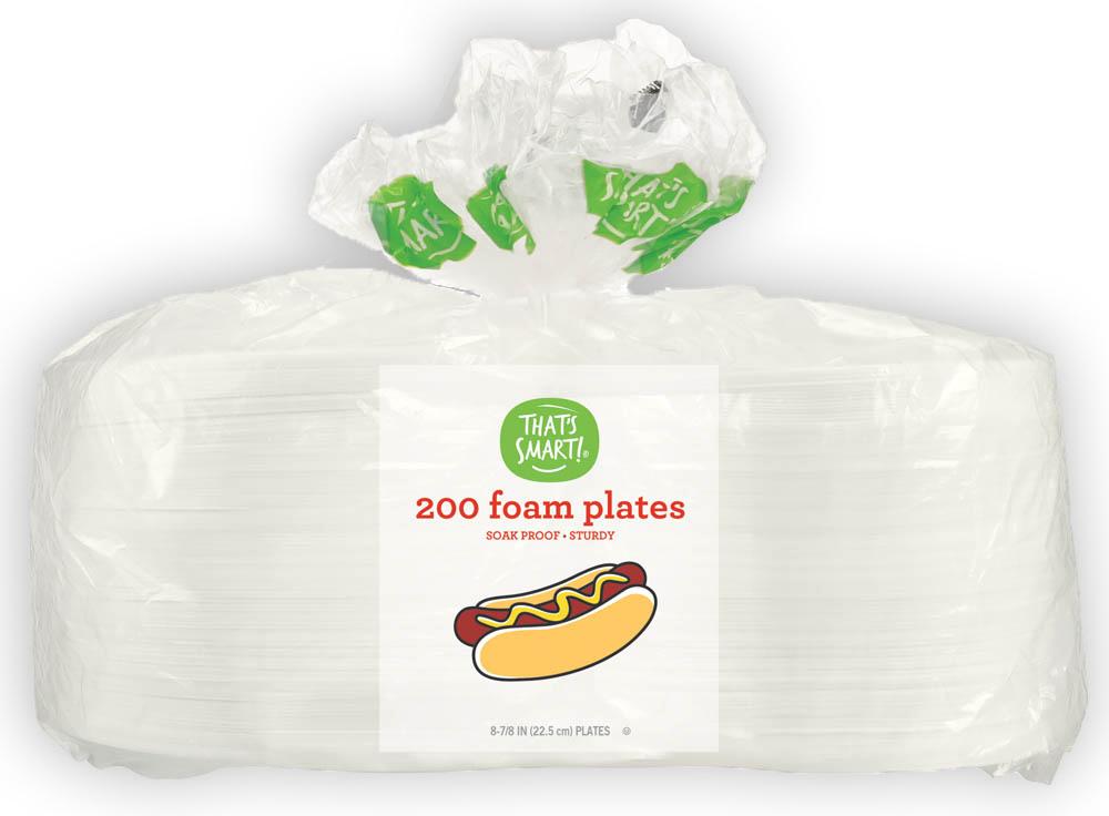 That's Smart! 200 foam plates