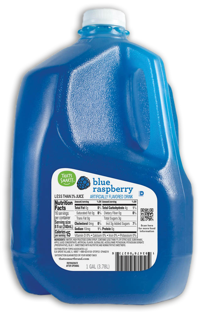 That's Smart! Blue Raspberry Flavored Drink