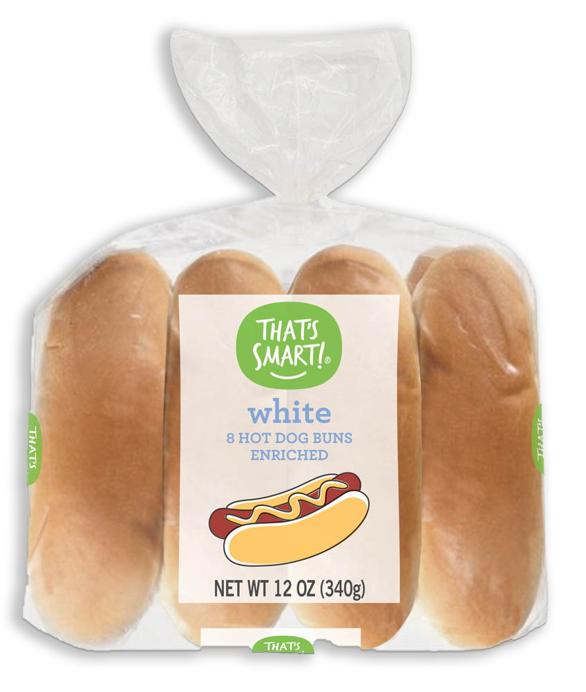 That's Smart! White Hot Dog Buns