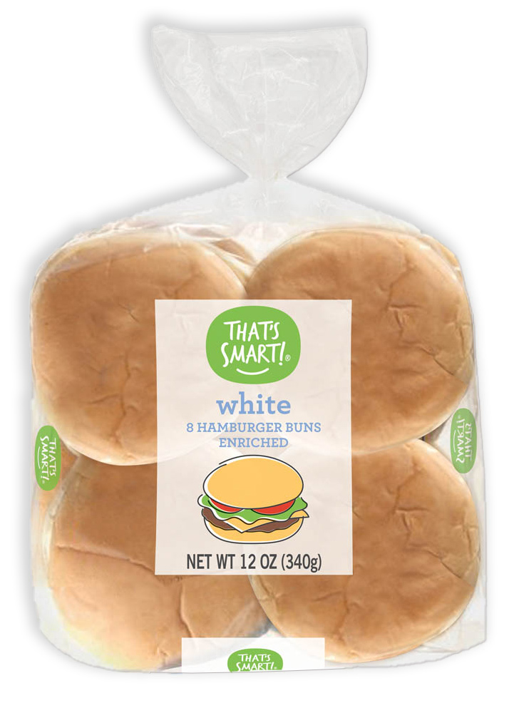 That's Smart! White Hamburger Buns