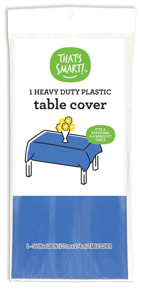 That's Smart! heavy duty plastic table cover - blue
