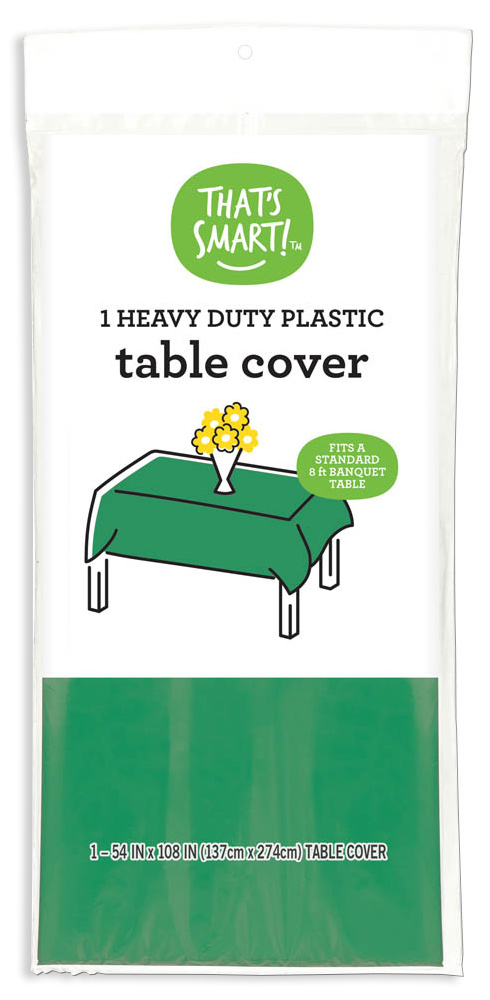 That's Smart! heavy duty plastic table cover - green