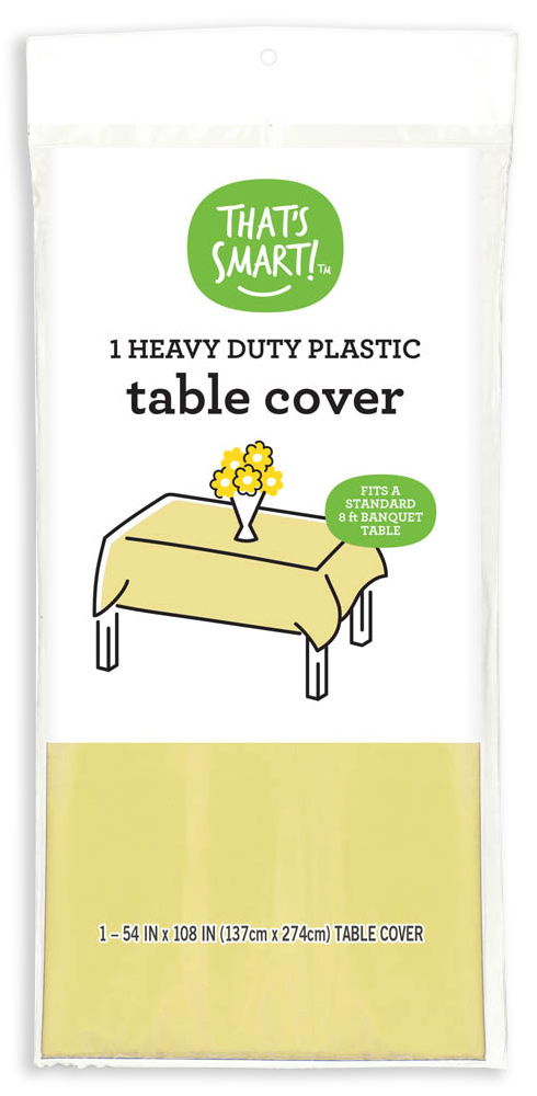That's Smart! heavy duty plastic table cover - yellow
