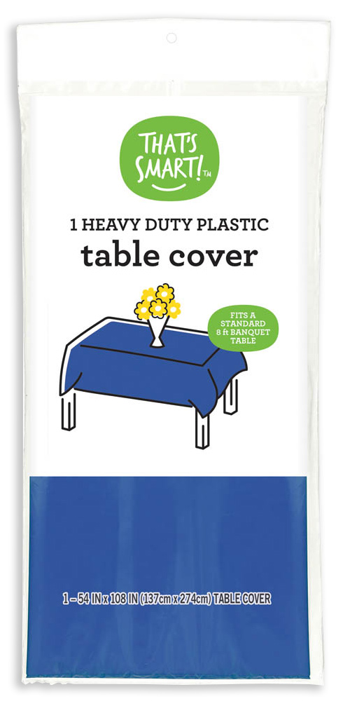 That's Smart! heavy duty plastic table cover - navy