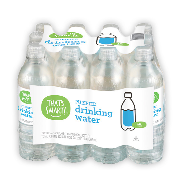 That's Smart! purified drinking water 12 pack