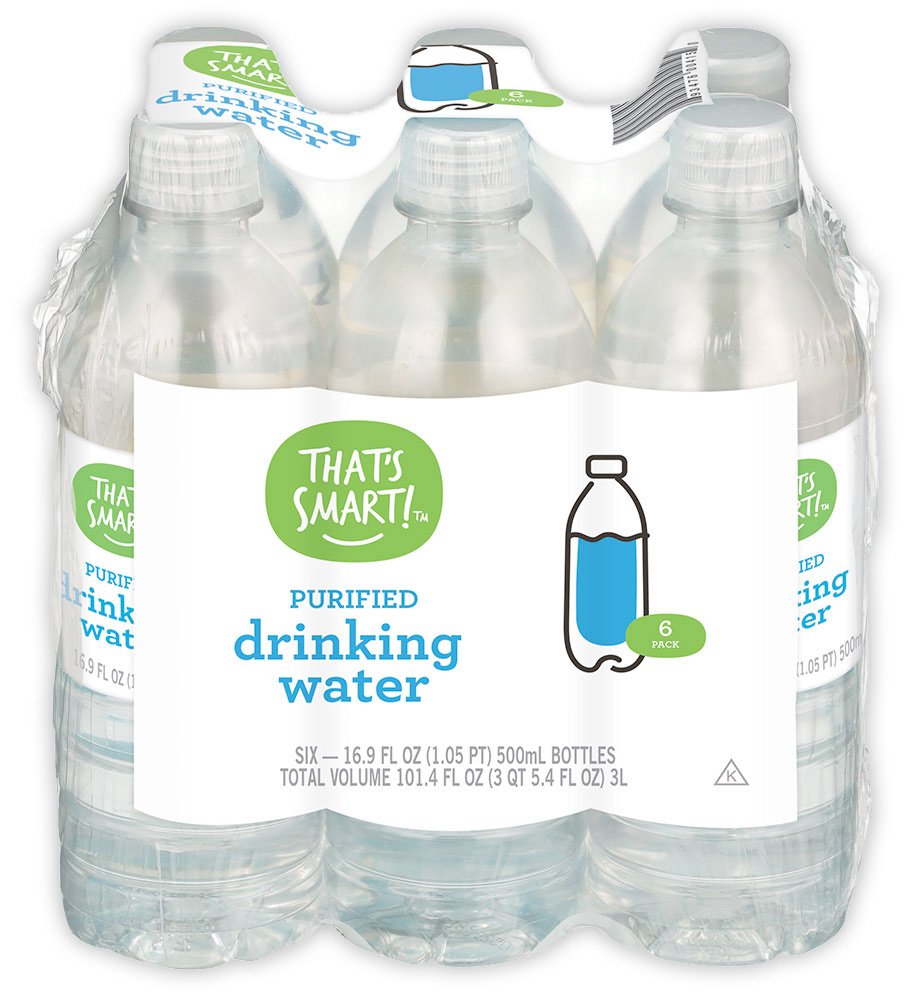 That's Smart! purified drinking water 6 pack